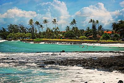 Photograph - Playtime In Poipu by Lynn Bauer