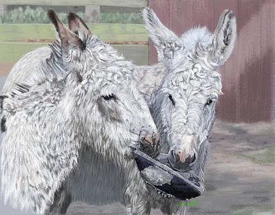 Donkey Digital Art - Playtime by Myke  Irving