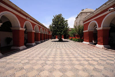 Photograph - Plaza At Santa Catalina Monastery by Aidan Moran