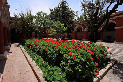 Photograph - Plaza At Santa Catalina Monastery, Arequipa, Peru by Aidan Moran