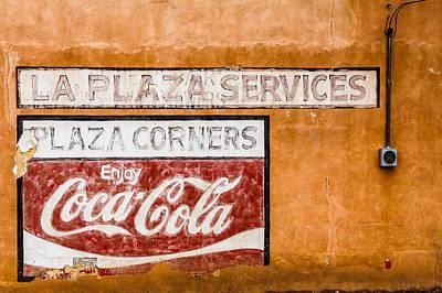 Plaza Corner Coca Cola Sign Art Print by Steven Bateson