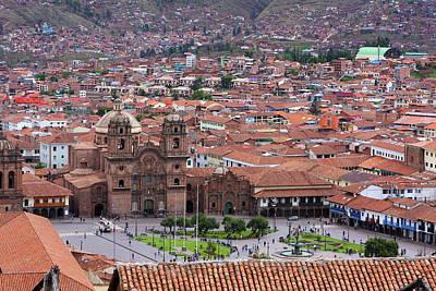 Print featuring the photograph Plaza De Armas, Cusco, Peru by Aidan Moran