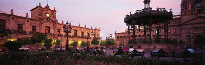 Park Benches Photograph - Plaza De Armas, Guadalajara, Mexico by Panoramic Images