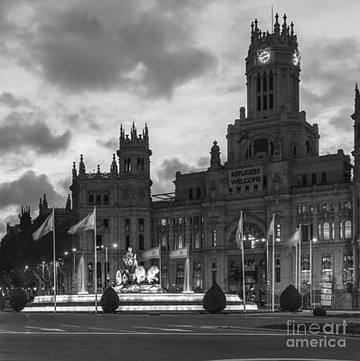 Plaza De Cibeles Fountain Madrid Spain Art Print