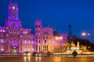 Plaza De Cibeles In Madrid Art Print