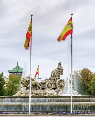 Plaza De Cibeles, Madrid, Spain Art Print by Gady Cojocaru