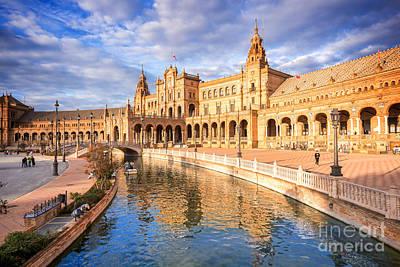 Plaza De Espana Art Print by Delphimages Photo Creations