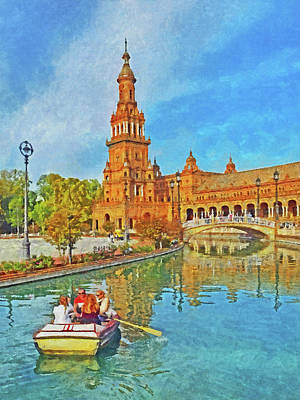 Digital Art - Plaza De Espana by Digital Photographic Arts