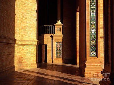 Photograph - Plaza De Espana Light And Shadows by John Rizzuto