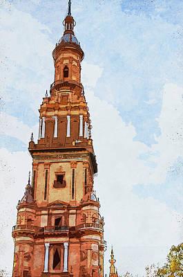 Painting - Plaza De Espana, Seville - 05 by Andrea Mazzocchetti