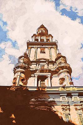 Painting - Plaza De Espana, Seville - 08 by Andrea Mazzocchetti