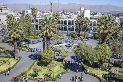 Photograph - Plaza De Las Armas In Arequipa by Patricia Hofmeester