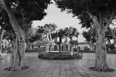 Photograph - Plaza De Santiago Monochrome by Marek Stepan