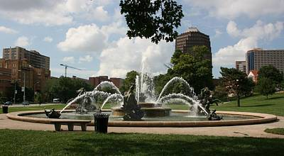 Photograph - Plaza Fountain Kansas City by David Dunham