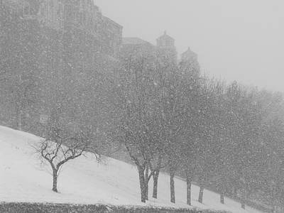 Photograph - Plaza Impressionism With Kc Snow by Michael Oceanofwisdom Bidwell
