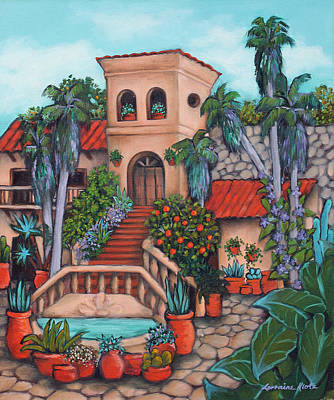 Plaza Jardin Art Print by Lorraine Klotz