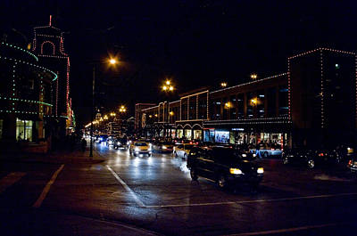 Photograph - Plaza Lights by Jim Mathis
