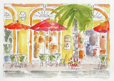 Art Print featuring the painting Plaza Machada Mazatlan by Pat Katz
