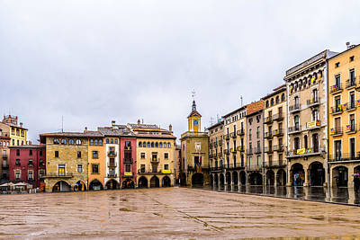 Photograph - Plaza Major De Vic by Randy Scherkenbach