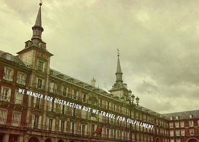 Plaza Mayor Quote Art Print by JAMART Photography
