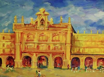 Plaza Mayor Salamanca Art Print by Danielle Hacker