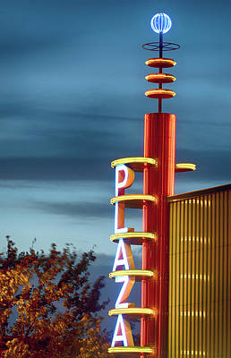 Photograph - Plaza Neon Hdr 52617 by Rospotte Photography