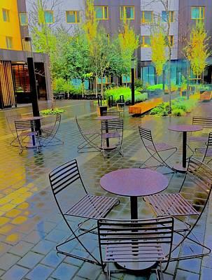 Jolly Old Saint Nick - Plaza Rain Hotel Portland by Scott L Holtslander