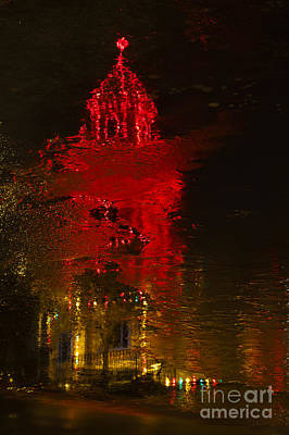 Photograph - Plaza Reflections by Dennis Hedberg