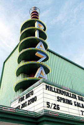 Photograph - Plaza Theater Neon by Rospotte Photography