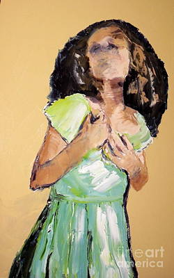 Painting - Pleading by Jodie Marie Anne Richardson Traugott          aka jm-ART