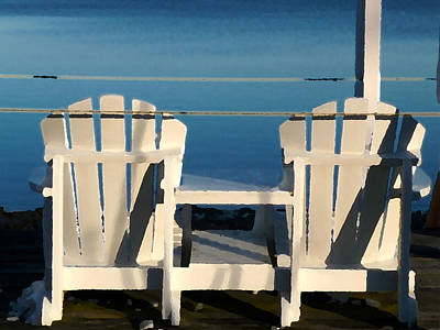 Bay Photograph - Pleasant Bay Chairs by Heather MacKenzie