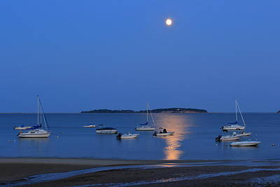 Photograph - Moon Over Pleasant Bay by John Burk