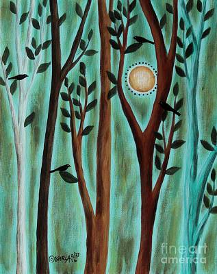 Abstract Leaves Painting - Pleasant Day 1 by Karla Gerard