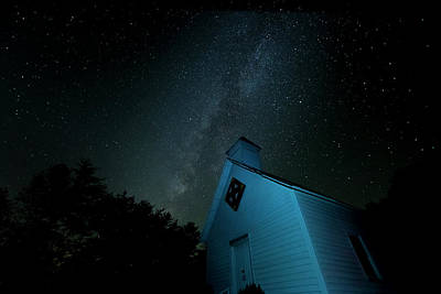 Art Print featuring the photograph Pleasant Hill Methodist Under The Milky Way by David Morefield