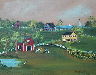 Painting - Pleasant View Farm by Virginia Coyle