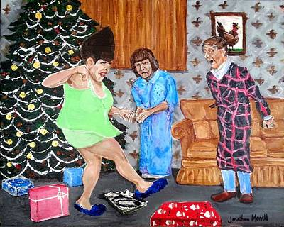 Painting - Please Dawn Not On Christmas by Jonathan Morrill