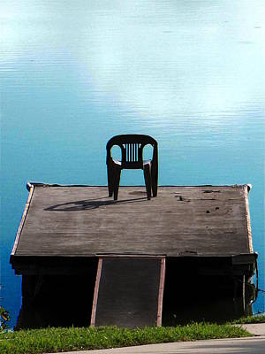 Photograph - Please Have A Seat On The Dock  by Chris Mercer