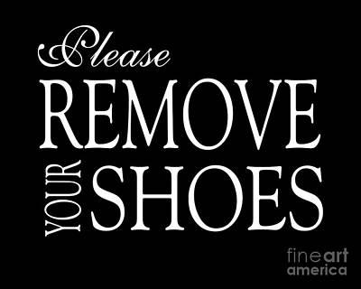 Please Remove Your Shoes Original by Edit Voros
