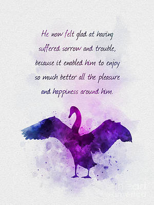 Inspirational Mixed Media - Pleasure And Happiness by Rebecca Jenkins
