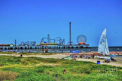 Photograph - Pleasure Pier Sunny Day by Diana Mary Sharpton