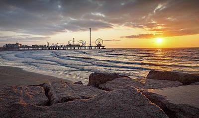 Photograph - Pleasure Pier Sunrise by Tim Stanley