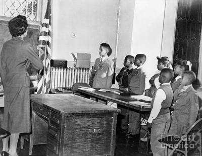 Photograph - Pledge Of Allegiance, 1958 by Granger