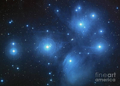 Photograph - Pleiades Cluster by Rod Jones