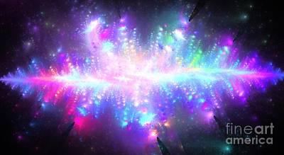 Pleiades Digital Art - Pleiadian Stars by Kim Sy Ok