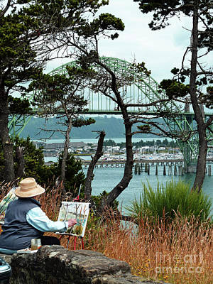 Photograph - Plein Air Artist by Methune Hively