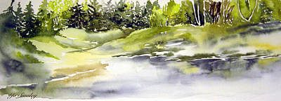 Painting - Plein Air At The Pond At Nutimik  by Joanne Smoley