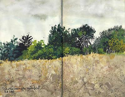 Painting - Plein Air Landscape Study In Gouache by Martin Stankewitz