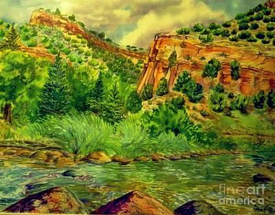 Digital Art - Plein  Air Of Eagle River by Annie Gibbons