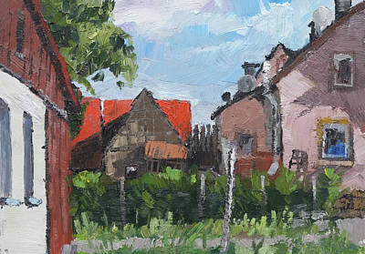 Painting - Plein Air ,oil Painting,rural Village, by Martin Stankewitz