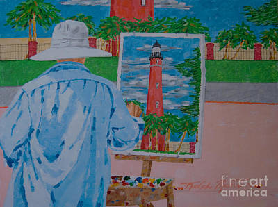 Painting - Plein-air Painter by Art Mantia